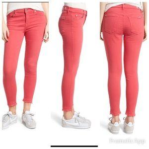 7 for all mankind Frayed hem ankle skinny jeans